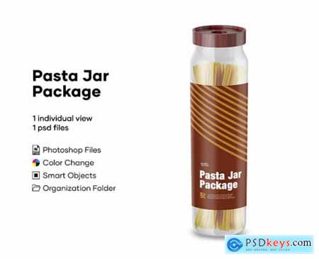 Pasta Jar Package Mockup