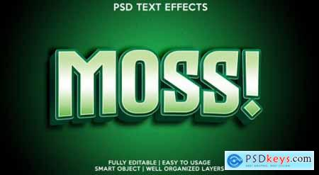 Template of text effect