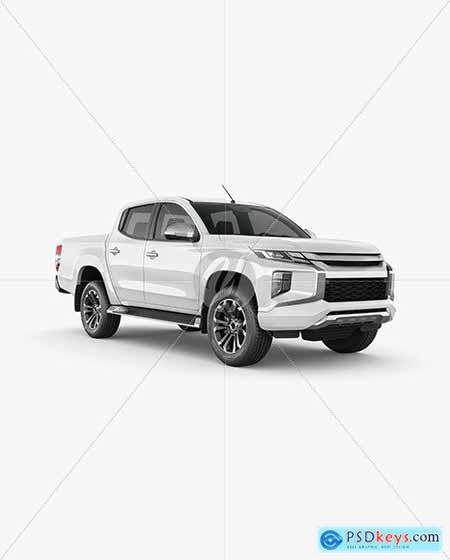 Pickup Truck Mockup - Half Side View 65758