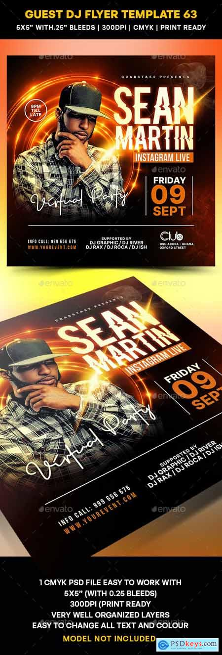 Guest DJ Flyer Template 63 27849630