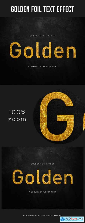 Gold Foil Text Effect 28006222