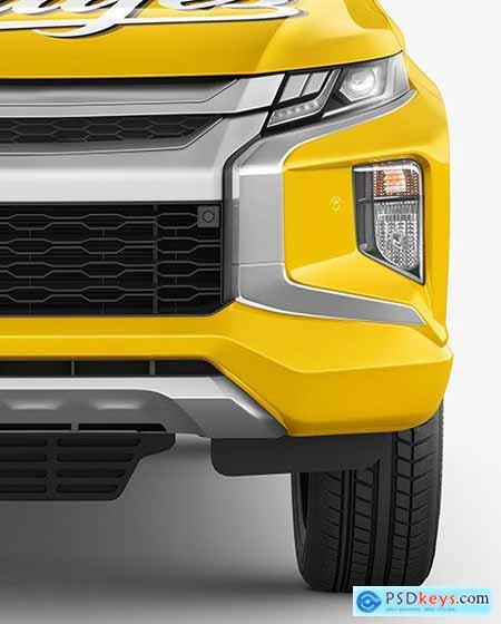Pickup Truck Mockup - Front View 65775