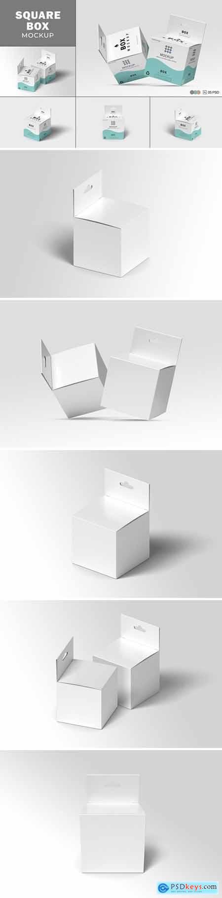 Square Box Mockup Packaging