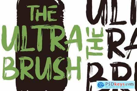 Ultra Brush Handbrush Font