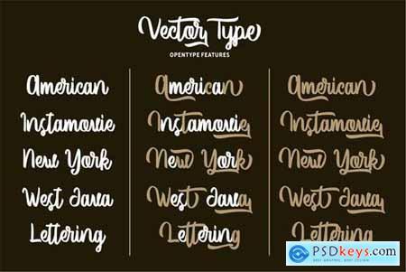 Vector Type Handlettering Font