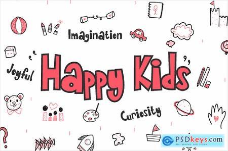 Quirki Scandi - Children fun poster font