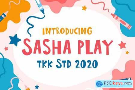 Sasha Play - all caps happy scandi font