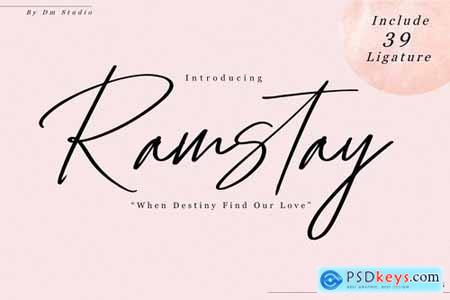 Ramstay - Signature Font