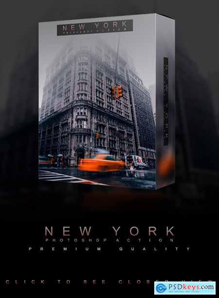Famous Citys - NEW YORK - Photoshop Action 26752166