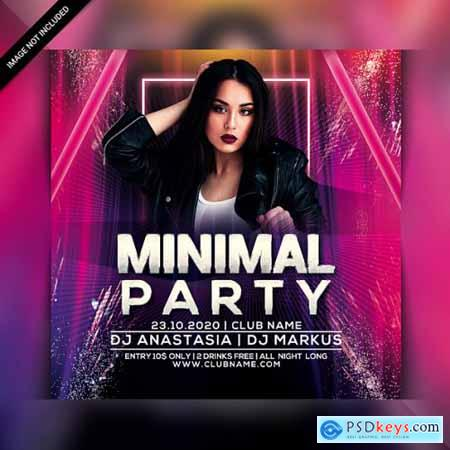 Club night party flyer template 3