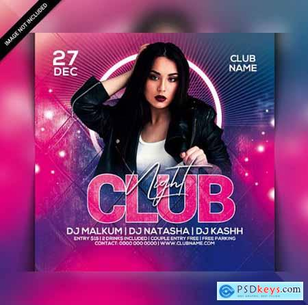 Club night party flyer template 4