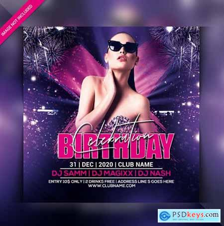 Club night party flyer template 5