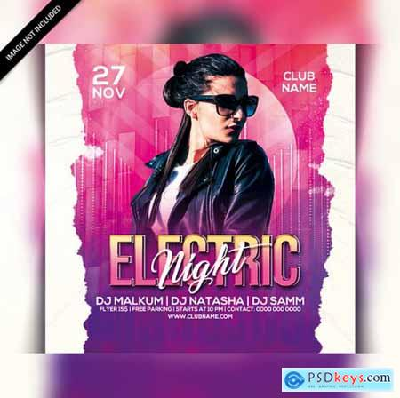 Club night party flyer template 2