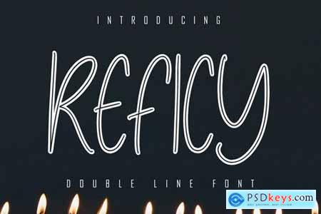 Reficy Double Line Font