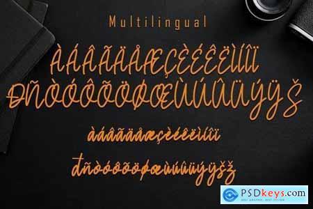 Saglity Monoline Script Font