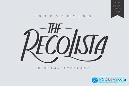 The Recolista Display Typeface
