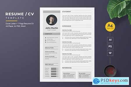 Modern Resume - CV Template620