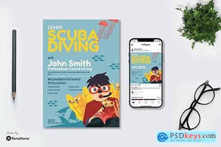 Scuba Diving Course - Flyer & Instagram GR