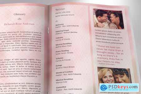 Glamour Funeral Program Word 4584850