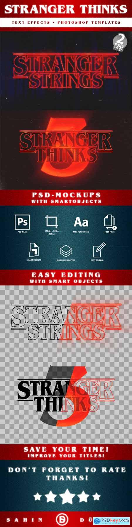 Stranger Thinks - Text-Effects-Mockups - Template-Package 27600427