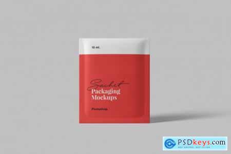 Sachet packaging mockup
