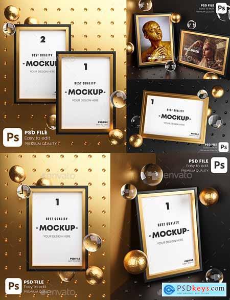 Gold Frame Mockup Pack 28225069