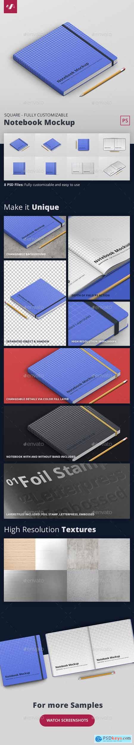 Notebook Mockup Square Format 28232598