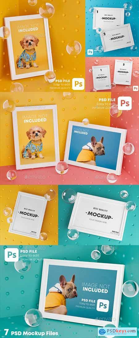 Stylish Frame Mockup Pack 28223988