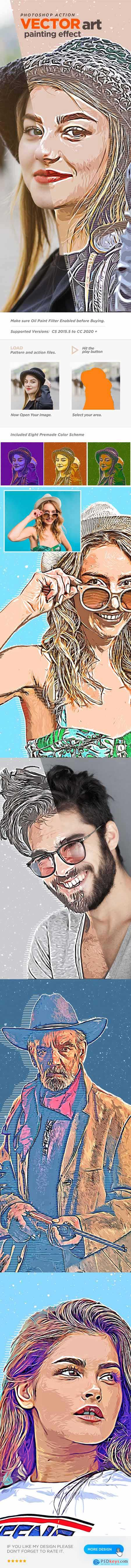 Vector Art Painting Effect Photoshop Action 27010115