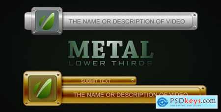 Metal Lower Thirds 1147382