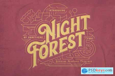 Night Forest - Vintage Font