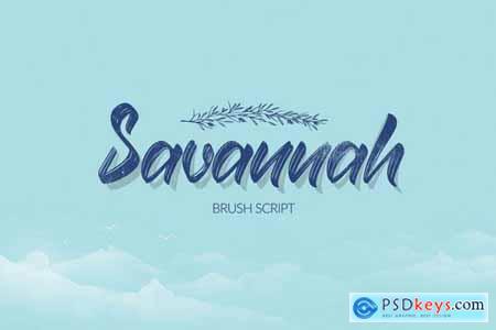 Savannah Brush Script Font
