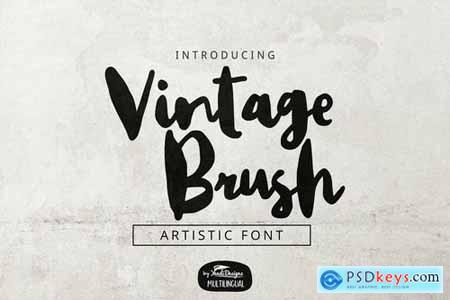 Vintage Brush Font