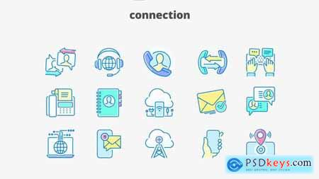 Connection- Filled Outline Animated Icons 28333377