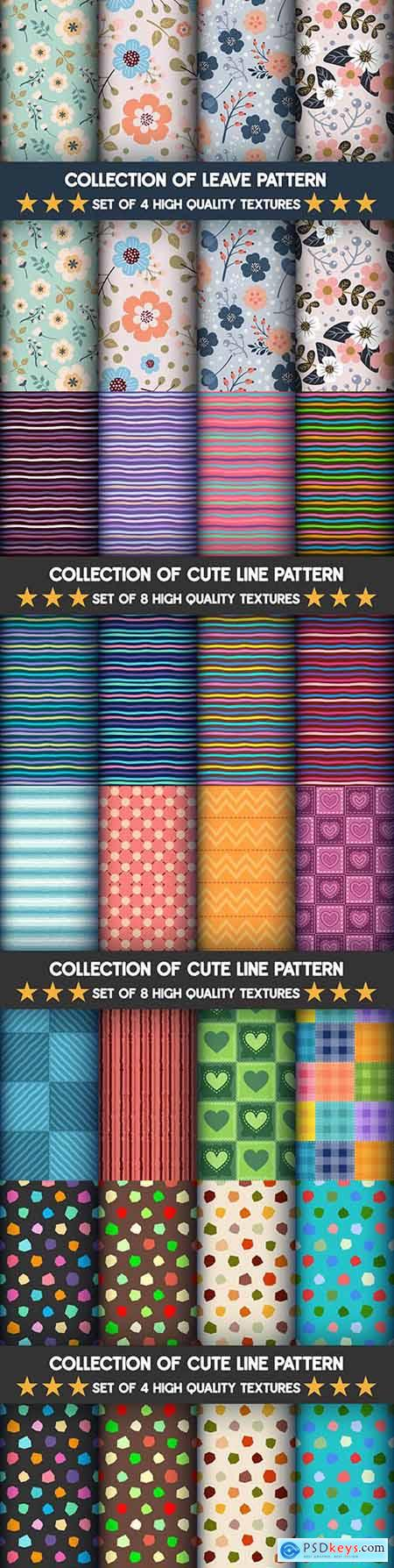Collection decorative patterns in an abstract design set