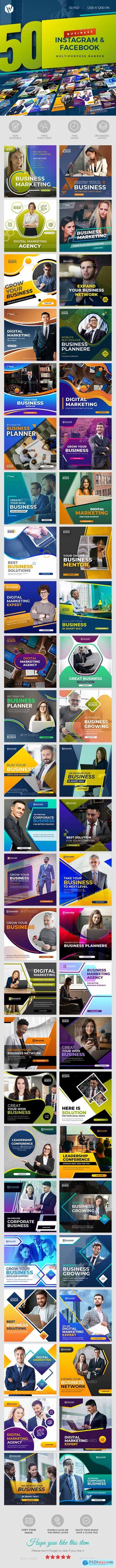 50 Instagram & Facebook Business Banners 28275342
