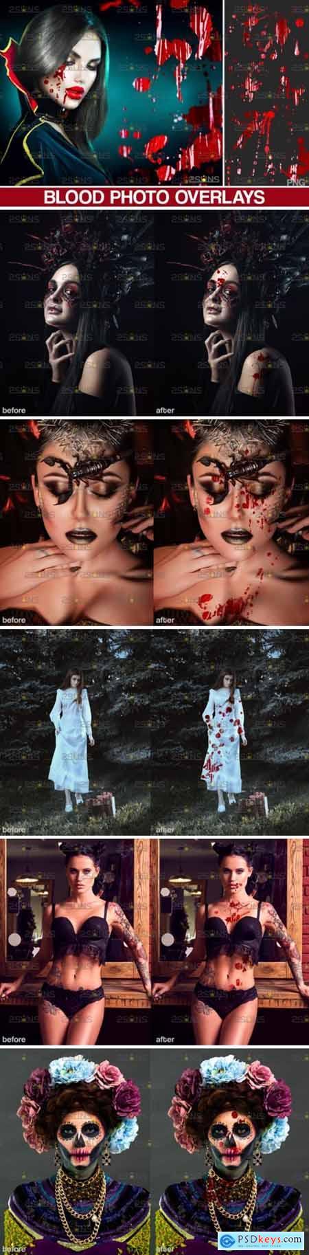 Blood Splatter Photoshop Overlay V6 5023788