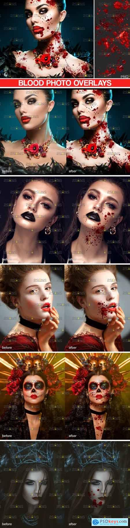 Blood Splatter Photoshop Overlay V7 5023851
