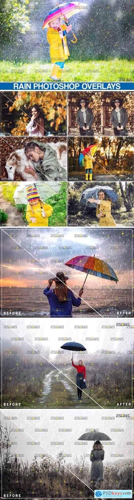 Rain Overlay & Photoshop Overlay 5023754