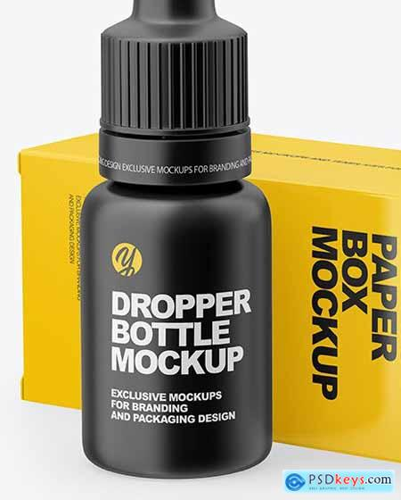 Matte Dropper Bootle with Glossy Paper box mockup 65546