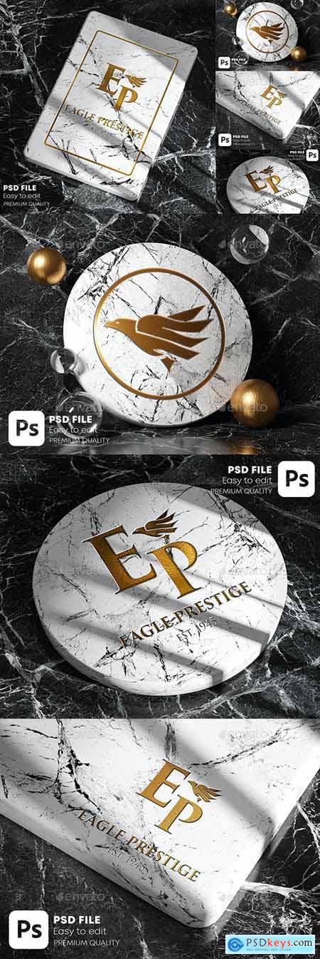 Gold Marble Logo Mockup Pack 28404047