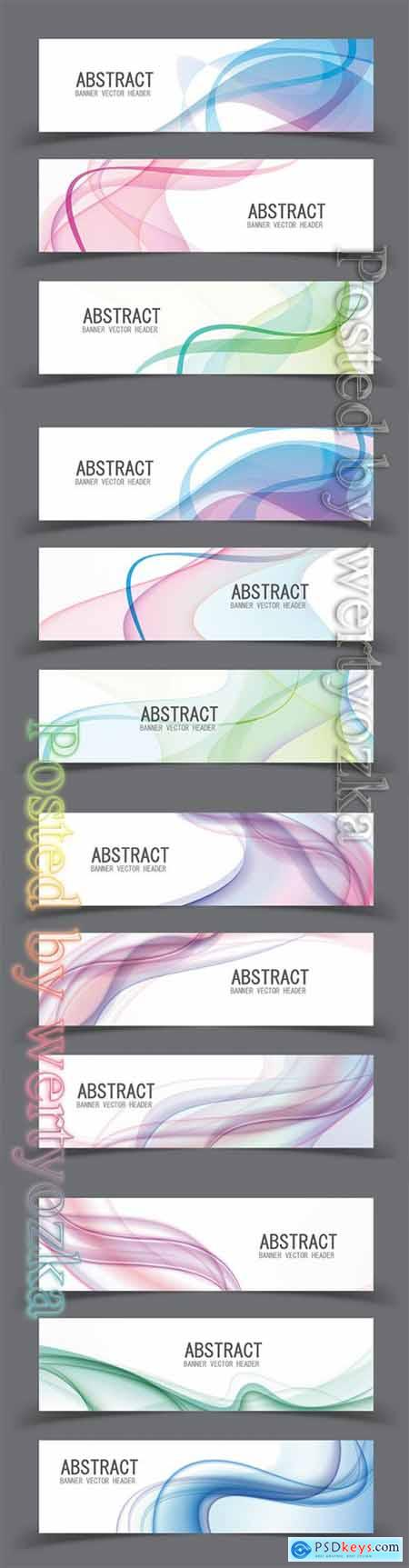 Vector abstract design banner template
