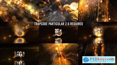 Glowing Particals Logo Reveal 36 Golden Particals 12 27018084