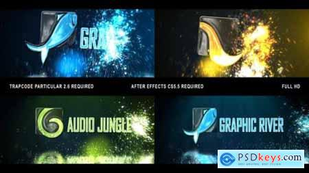Glowing Particals Logo Reveal 32 24003431