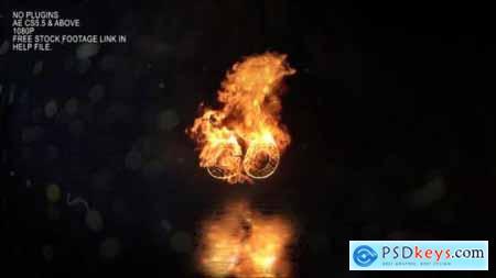Realistic Fire Logo 3 25116321