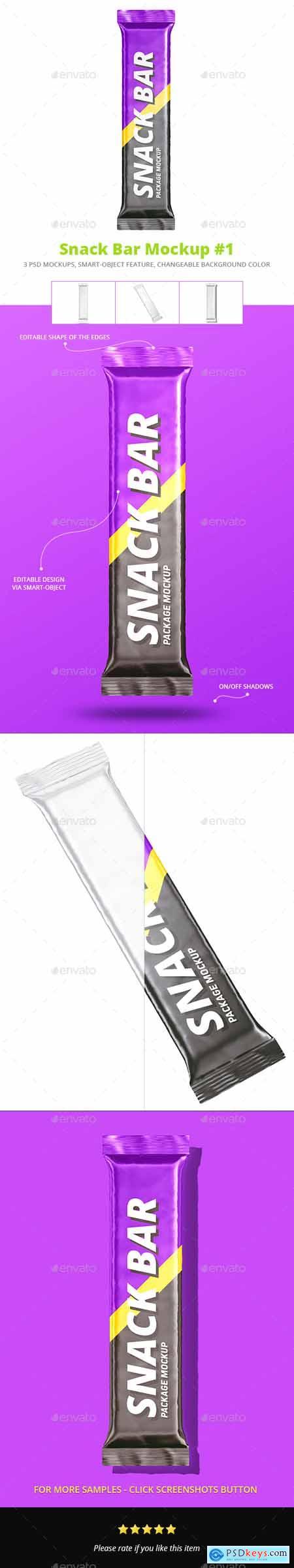 Snack Bar Package Mockup Set 1 27102925