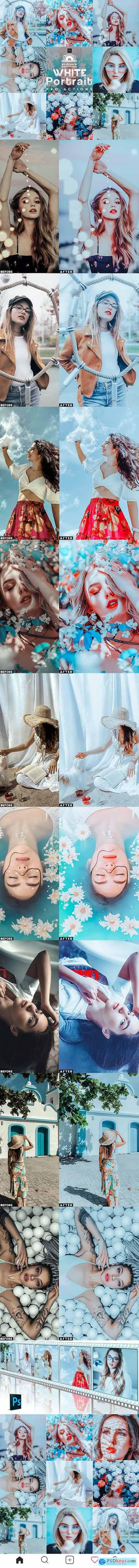 White Portrait Photoshop Actions 27473023