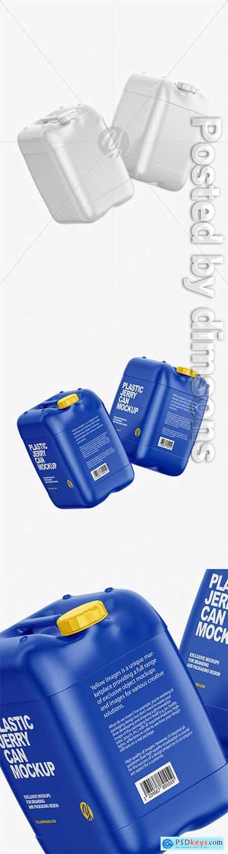 Two Plastic Jerry Cans Mockup 63206