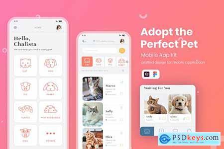UI Mobile Kit Pet Adoption