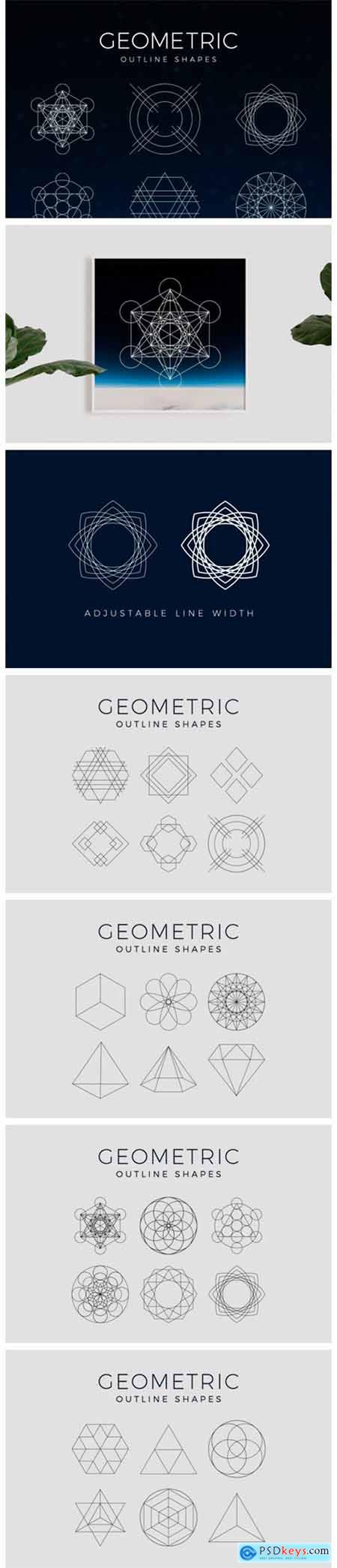 Geometric Outline Clipart Shapes 5050774
